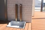 水とお湯の出る外水栓 ワンちゃんに優しい